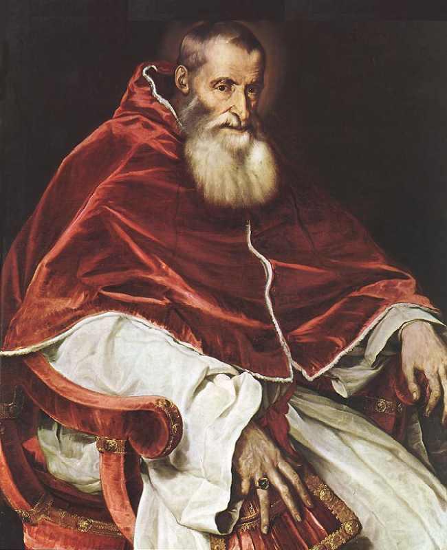 Тициан-Римский папа Павел III